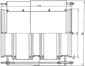 Kompensator dvukhsektsionnyy po TU 5.551-10702-82