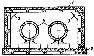 Канал с вибропрокатными плитами