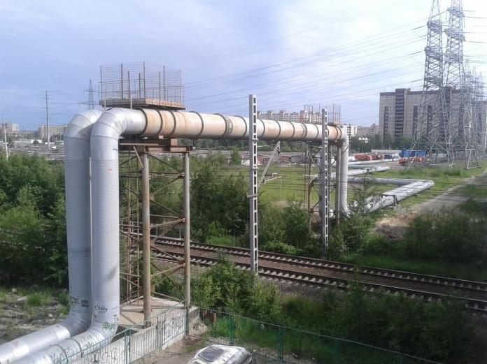 Прокладка теплосети над железной дорогой